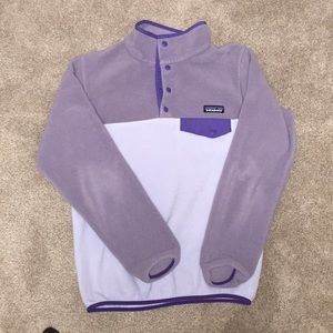 Purple Patagonia Snap Tee Synchilla